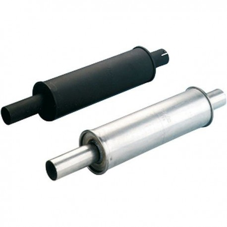 Silencer round stainless steel 125X400mm